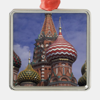 Russia, Moscow, Red Square. famous onions of St. Silver-Colored Square Decoration