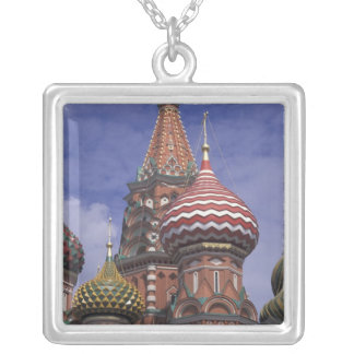 Russia, Moscow, Red Square. famous onions of St. Square Pendant Necklace