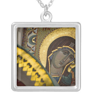 Russia, Moscow, Red Square. Our Lady of Kazan Silver Plated Necklace