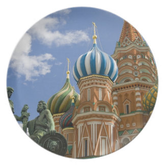 Russia, Moscow, Red Square. St. Basil's 3 Dinner Plate
