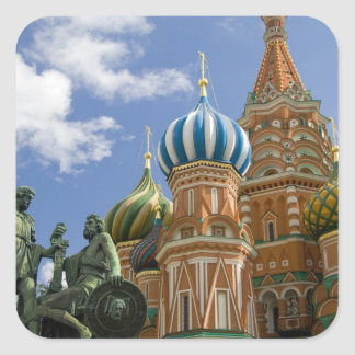 Russia, Moscow, Red Square. St. Basil's 3 Square Sticker