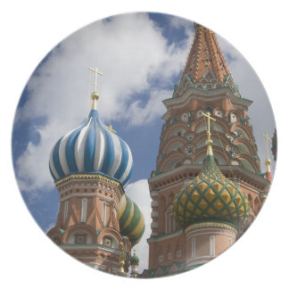 Russia, Moscow, Red Square. St. Basil's 4 Party Plates