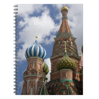 Russia, Moscow, Red Square. St. Basil's 4 Spiral Note Book