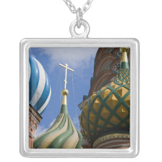 Russia, Moscow, Red Square. St. Basil's Silver Plated Necklace