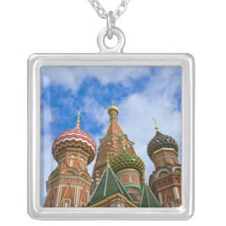 Russia, Moscow, Red Square, St. Basil's Silver Plated Necklace