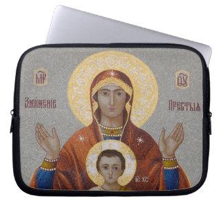Russia, Moscow, Sparrow Hill, Trinity Church. Laptop Sleeve