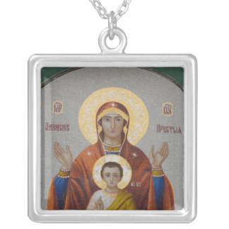 Russia, Moscow, Sparrow Hill, Trinity Church. Square Pendant Necklace