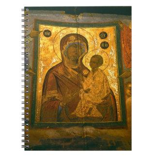 Russia, Novgorod Province, Tikhvin Monastery, Notebooks