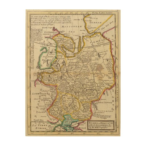 Russia or Moscovy Wood Print