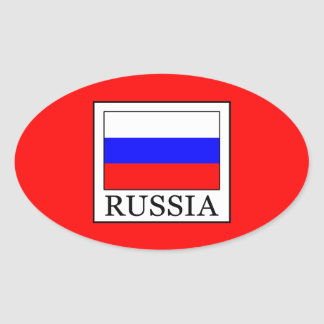 Russia Oval Sticker