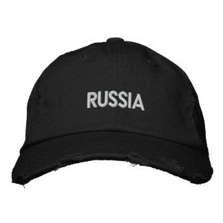 RUSSIA Patriotic Design Embroidered Baseball Cap