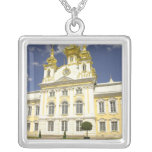 Russia. Petrodvorets. Peterhof Palace. Peter the 2 Square Pendant Necklace