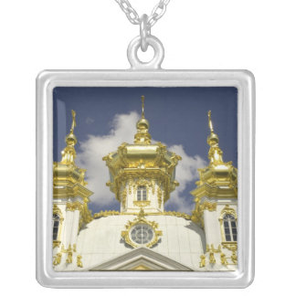Russia. Petrodvorets. Peterhof Palace. Peter the 4 Silver Plated Necklace