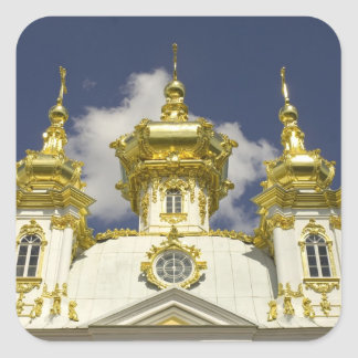 Russia. Petrodvorets. Peterhof Palace. Peter the 4 Square Sticker