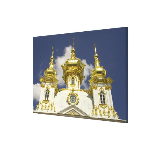 Russia. Petrodvorets. Peterhof Palace. Peter the 4 Stretched Canvas Print