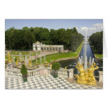 Russia. Petrodvorets. Peterhof Palace. Peter the Greeting Card