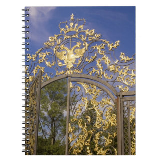 Russia, Pushkin. Gate detail and support towers Spiral Notebooks