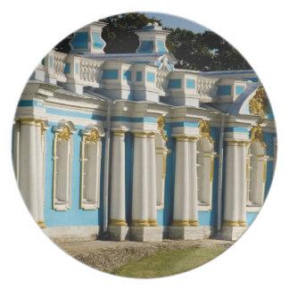 Russia, Pushkin. Portion of Catherine Palace. Plate