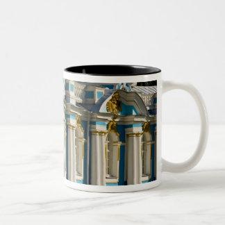 Russia, Pushkin. Portion of Catherine Palace. Two-Tone Coffee Mug
