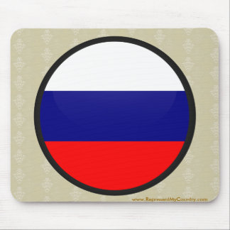 Russia quality Flag Circle Mouse Pads