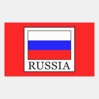 Russia Rectangular Sticker