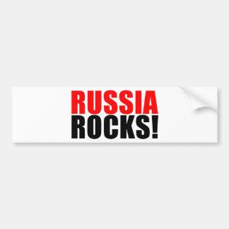 RUSSIA ROCKS BUMPER STICKER