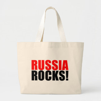 RUSSIA ROCKS LARGE TOTE BAG