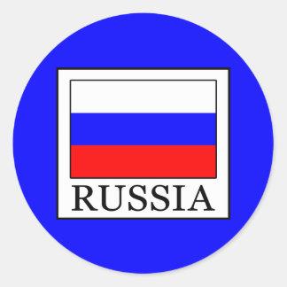 Russia Round Sticker
