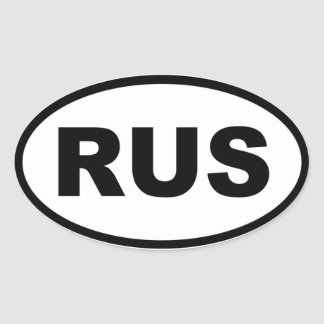 Russia RUS European Oval Sticker