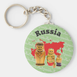 Russia - Russia babushka key supporter Key Ring