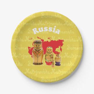 Russia - Russia babushka - Matrjoschka plate 7 Inch Paper Plate