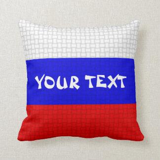 Russia Russian flag: ADD TEXT Cushion