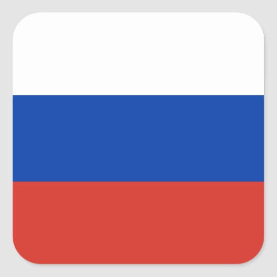 Russia russian flag square sticker