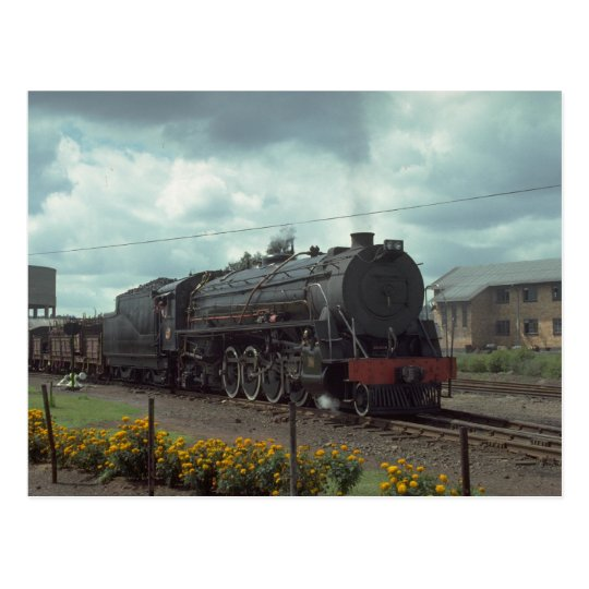 Russia, Ry four unit road diesel set with train, l Postcard