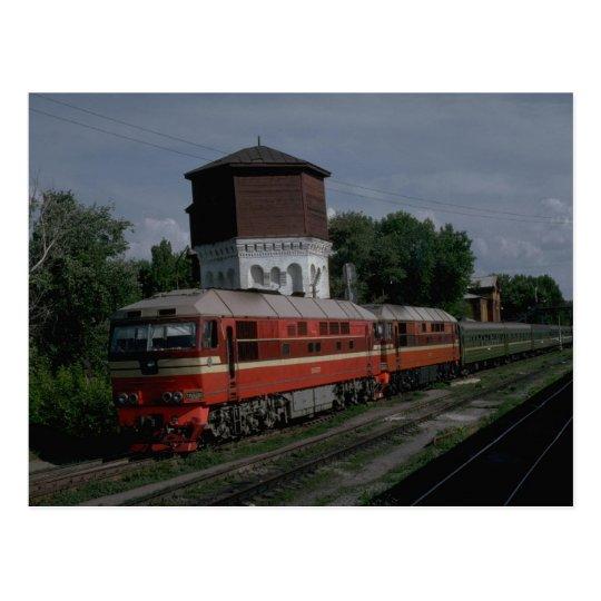 Russia, Ry newer series passenger diesels Postcard
