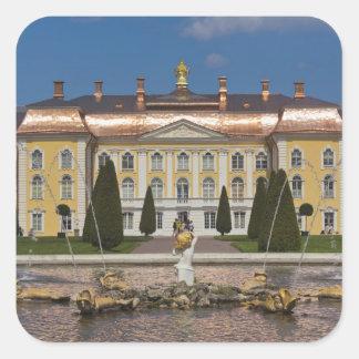 Russia, Saint Petersburg, Peterhof, Grand Palace 3 Square Sticker