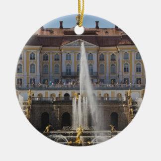 Russia, Saint Petersburg, Peterhof, Grand Palace 4 Christmas Ornament