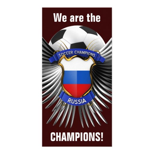 Russia Soccer Champions Photo Card