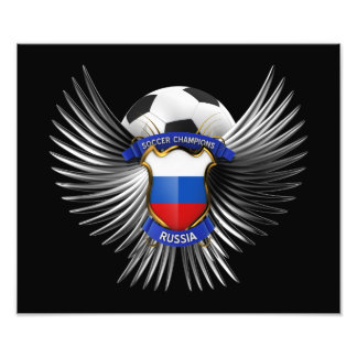 Russia Soccer Champions Photographic Print