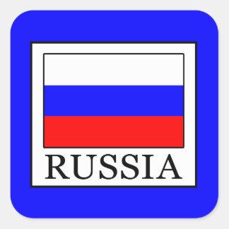 Russia Square Sticker