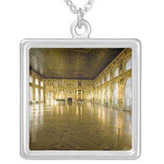 Russia, St. Petersburg, Catherine's Palace (aka 11 Silver Plated Necklace