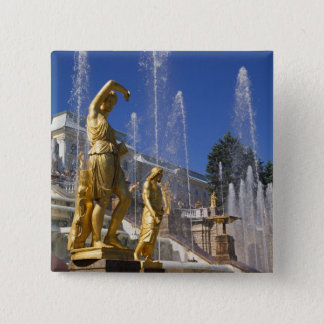 Russia, St. Petersburg, Golden statues in the 15 Cm Square Badge