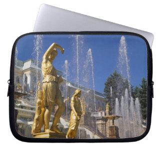Russia, St. Petersburg, Golden statues in the Laptop Sleeve