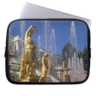Russia, St. Petersburg, Golden statues in the Laptop Sleeves