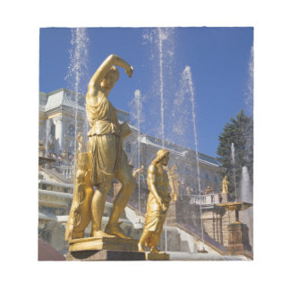 Russia, St. Petersburg, Golden statues in the Notepad