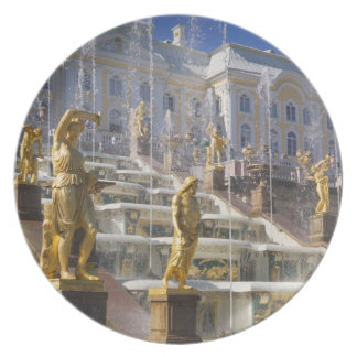 Russia, St. Petersburg, The Great Cascade, Plate