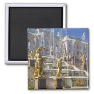 Russia, St. Petersburg, The Great Cascade, Square Magnet