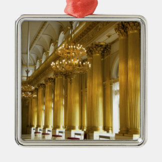 Russia, St. Petersburg, Winter Palace, The Silver-Colored Square Decoration