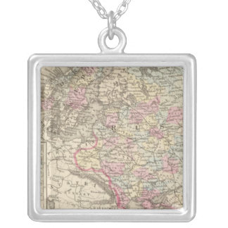 Russia, Sweden, Norway 2 Silver Plated Necklace