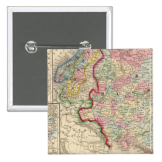 Russia, Sweden, Norway Map by Mitchell 15 Cm Square Badge